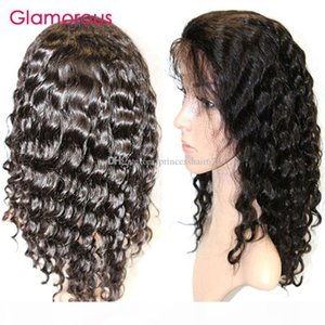 Glamorous Human Hair Wig Unit 12-24inch Peruvian Hair Wig pre-plucked 150% density human hair lace front wigs