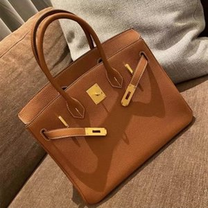35CM 30CM 25CM Fashion purse Women Totes Shoulder bags With Stamped Lock Cowskin Genuine leather Handbag Scarf Horse Charm High quality 2021
