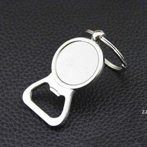 Beer Bottle Opener Key Rings DIY For 25mm Glass Cabochon Keyrings Engraving Gifts Zinc Alloy Kitchen Bar Tools Men Gifts HWE9856