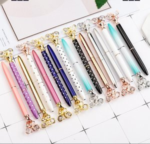 Creative Multicolor Diamond Metal Butterfly Ballpoint Pens School Office Supplies Business Pen Stationery Student Gift 15 Color