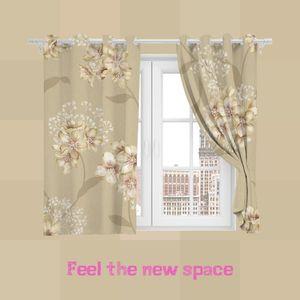 Curtain & Drapes Full Shade Sunscreen Customized Modern Kitchen Bedroom LivingRoom Princess Bay Window Punch Hook Blackout Arrival