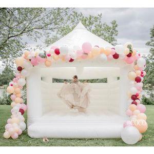 Белый надувной свадьба вышибала, 4,5x4.2M партия надувной надувной касл свадьба свадебный день на день рождения домик домов на продажу