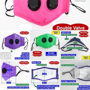 Cotton Designer Day Ship Dhl 1 Face Design Mask Double 2 Breathe Valves Respirators r 1zwa 5ljx