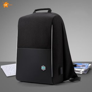 Men Laptop Backpack Multifunction USB ChargingUnisex Black Travel Mochila Custom Bag