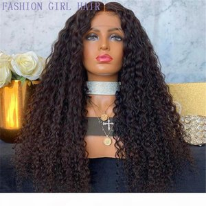 360 Lace Frontal Wig Pre Plucked With Baby Hair Brazilian Kinky Curly Lace Front Wigs black brown blonde synthetic hair wig for black women