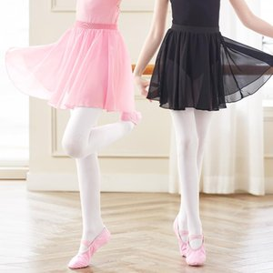Girls Kids Ballet Skirt Sheer Chiffon Tutu Pink Gymnastics Leotard Stage Wear