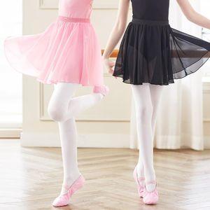 Ragazze Bambini Gonna Balletto Sheer Chiffon Tutu Pink Gymnastics Leotard Stage Wear