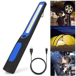 Arbeitslicht 2in1 LED COB CAMPING Inspektion Lampe Handbrenner Magnetische Wiederaufladbare Tabelle Taschenlampen Fackeln