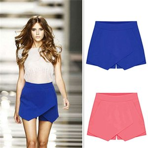 Shorts For Women Casual Asymmetrical Front Candy Color Tulip Skort Women's Summer Sexy