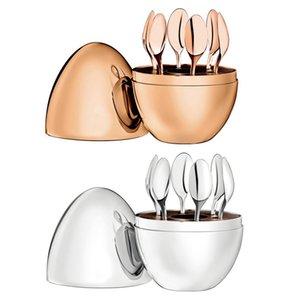 Dropship Geschirr Sets für Zuhause Möbel Trendy Christofle Paris Mood Coffee Lowons Kit Plattieren Edelstahl Ei Tee C