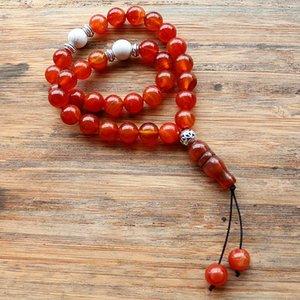 Handmade 10mm Natural Stone Beads 33 Prayer Islamic Muslim Tasbih Mohammed Rosary For Women Men Bead Jewelry Beaded, Strands