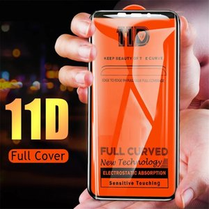 11D Big Edge Full Curved Tempered Glass 9H Screen Protector film For Iphone 6 7 8 Plus x Xr 11 12 pro Max