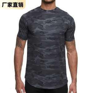 2021 Summer Short Sleeve T-shirt Men's Loose Fit Large Size Digital Printing Quick Drying Sports T-shirt Training Fitness Top