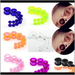 Wholesale 1 Set 8Pcs Gauges Soft Sile Body Jewelry Stretchers Multi Colors Size From 212Mm Jluka Rw3Re