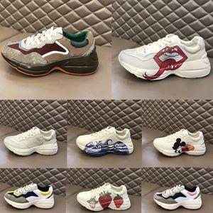Scarpe casual da uomo rhyton vintage dad sneakers paris fashion donne piattaforma sportiva formatori fragola mouse onda bocca tigre web stampa scarpa