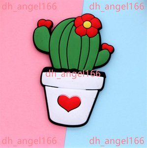 Fridge Carton Magnets PVC Colorful Magnet Plastic Refrigeator 3D Cute Sticker Home Furnishing Decorate DHL