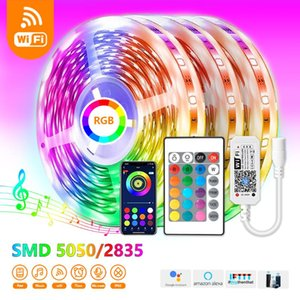 Strips 5M-30M RGB Wifi LED Strip Light Bluetooth Control DC12V Lamp Tape Alexa Ribbon For TV Backlight Room Desktop