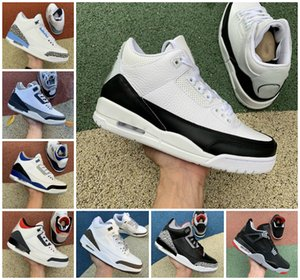TOP Quality FIRE RED 3s 3 Air Mens Basketball Shoes Knicks Rivals JSP TINKER SP White BLACK CEMENT UNC Blue PE Mocha Laser Orange Fragment Designers