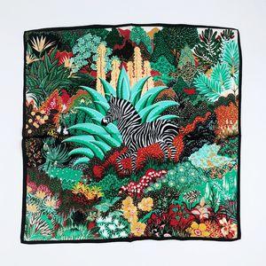 100% настоящий шелковистый шелковый шарф 53см квадратных мягких женщин маленький чистый шелковый шарф красочные шарфы животноводства
