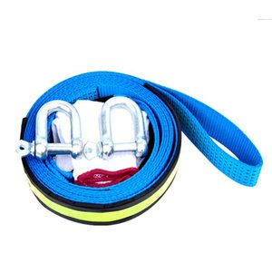 2021 5m 8 Tons Tow Cable Strap Recovery Car Towing Rope with Hooks High Strength Nylon for Heavy Duty Emergency with Gloves