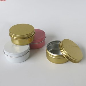 100 x 50G Empty Metal face cream jar small Aluminum candy Case Pot Containers white aluminum candle packaging 50g Tinhigh qualtity