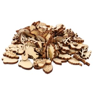Novelty Items 200pcs Unfinished Wood Animal Leaf Mushroom Craft Pieces For DIY Project