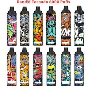 Factory Wholesale R and M Tornado Disposable E Cigarette 6000 Puffs RandM Vape Pen 12 Colors