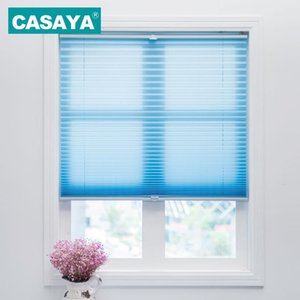 Blinds Trim-at-Home Cordless Pleated Fabric Light Filtering Shade Child Safety Easy Lift Curtains Customized Size