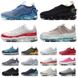 Zapatos vapormax 2020 flyknit vapor max 360 airmax tn plus vapourmax off white Pure Platinum zapatillas deportivas para mujer para hombre Zapatillas deportivas negras