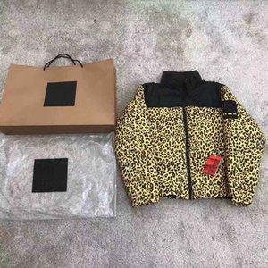 21ss мужская мода вниз пальто леопардовый узор мальчики вниз ветровка классическая унисекс густая куртка для зимы азиатских шишек
