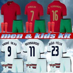 Men + Kids Kit 2021 Rúben Dias Silva Soccer Jersey National Team Joao Felix 2021 Bernardo B.fernandes Camisa de Futebol Camicie di calcio