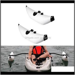 Raftsinflatable Boats 1 Set 2Pcs Canoe Kayak Inflatable Stabilizing System Replacement Water Buoy Float Pole Outrigger Sidekick Ama Ki Abbio
