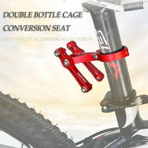 Bicicleta de montaña Doble Botella Jaula Conversión Handillar Handerbardero Soporte de agua Sillero Montaje Convertidor Accesorios Bicicletas Botellas Jaulas