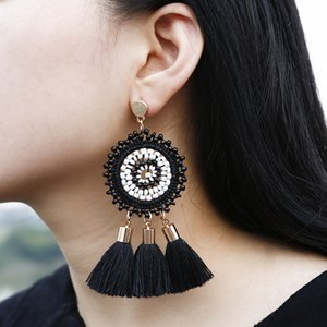 Selected Rice Bead Earrings Earrings, Bohemian Tassel Ethnic Fashion Jewelry, Guangzhou Goods