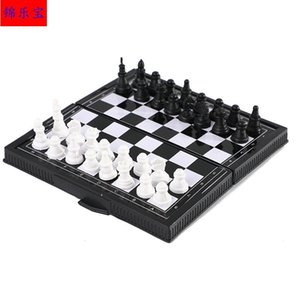 Plastic with magnetic competition teaching portable foldable game chess quick sale