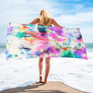 150*75 cm Microfiber Square Beach Towel Material Tie-Dye Series for Adult CCF6031