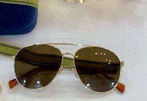 0969 Pilot Sunglasses Gold Frame Brown Lens 59mm Women Fashion Sun Glasses occhiali da sole firmati UV400 Protection Eyewear with box