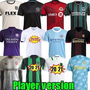 Версия игрока Orlando City MLS Philadelphia Union SLC футбол для футболки 22 LAFC DC United Montreal Columbus Nashville Kansas 2021 2022 Торонто ФК Остин