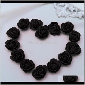 Decorative Flowers Wreaths Festive Supplies & Garden Drop Delivery 2021 500 Pcs 3Dot5Cm Artificial Rose Head For Diy Bouquets Wedding Party H