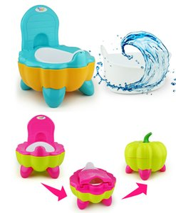 DHL Ship 3 Colors Potties & Seats Cute Pumpkin Style Designer Toilet Seat for Children with High Quality Children's Training Device