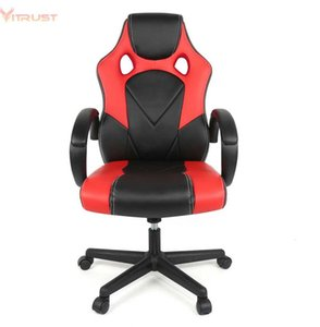 Living Room Furniture PC Gaming Chair Ergonomic Office Desk With Lumbar Support Arms Headrest High Back PU Leather Racing