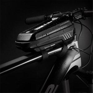 Cycling Bags Waterproof Bicycle Front Beam Bag Rainproof Tube EVA Hard Shell Bike Riding Equipment Accessories Large Capacity 1L
