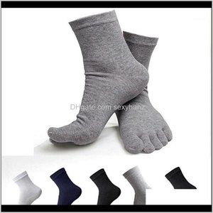 Underwear Apparel Drop Delivery 2021 Mens Cotton Five 5 Finger Toe Shoes Socks Business Casual Sports Mens1 Eviya