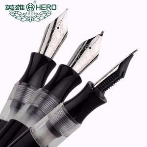 Plastic High Quality Fountain Hero Spin 856 Old Style Black Fude Bending Signature Ink Pen Stationery Office S