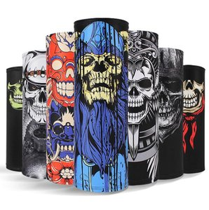 summer ice silk cooling magic scarves 3D Digital printed skull ghost face mask high quality mesh material bandana tactical CS hood scarf party halloween masks