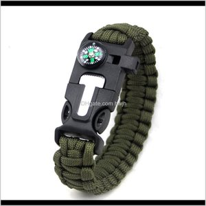Outdoor Gadgets And Camping Hiking Sports & Outdoorsoutdoor Products Umbrella Rope Woven Bracelet Multi Functional Flint High Decibel Whistle
