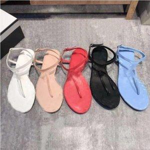 2021 Sandalias casuales de verano de verano, mocasines, zapatos planos, flip-flops, sandalias de lujo de moda 35-40