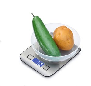 Food Digital Kitchen Scale Weight Grams and Oz for Baking and Cooking, Stainless Steel LCD Display Measure Tools GWF6261