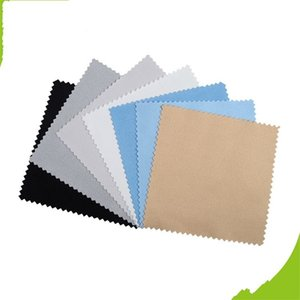 100pcs Buckskin Silver Jewelry Cleaning Polishing Cloth Sterling Gold Cleaner 8x8cm Cheapest Double Sides Tool Black White Blue 55 W2