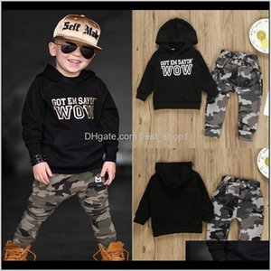 Sets Clothing Baby, & Maternity Drop Delivery 2021 Toddler Boy Designer Clothes Baby Boys Letter Coat Camouflage Pants 2Pcs Set Long Sleeve C